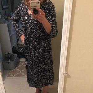 GAP Dresses - GAP floral dot midi shirt dress